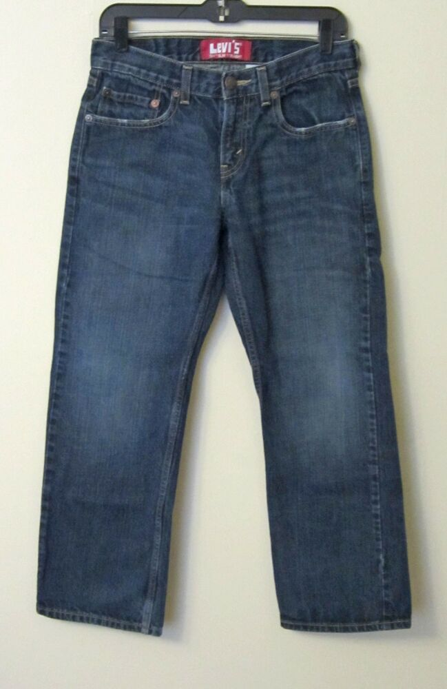 S LOOSE JEANS STRAIGHT LEVI BOYS 10 SLIM SIZE 23 x 25 BLUE YOUTH DESTROYED See more like this Levi's Boys' Slim Straight ,Straight Leg,Slim Fit, .