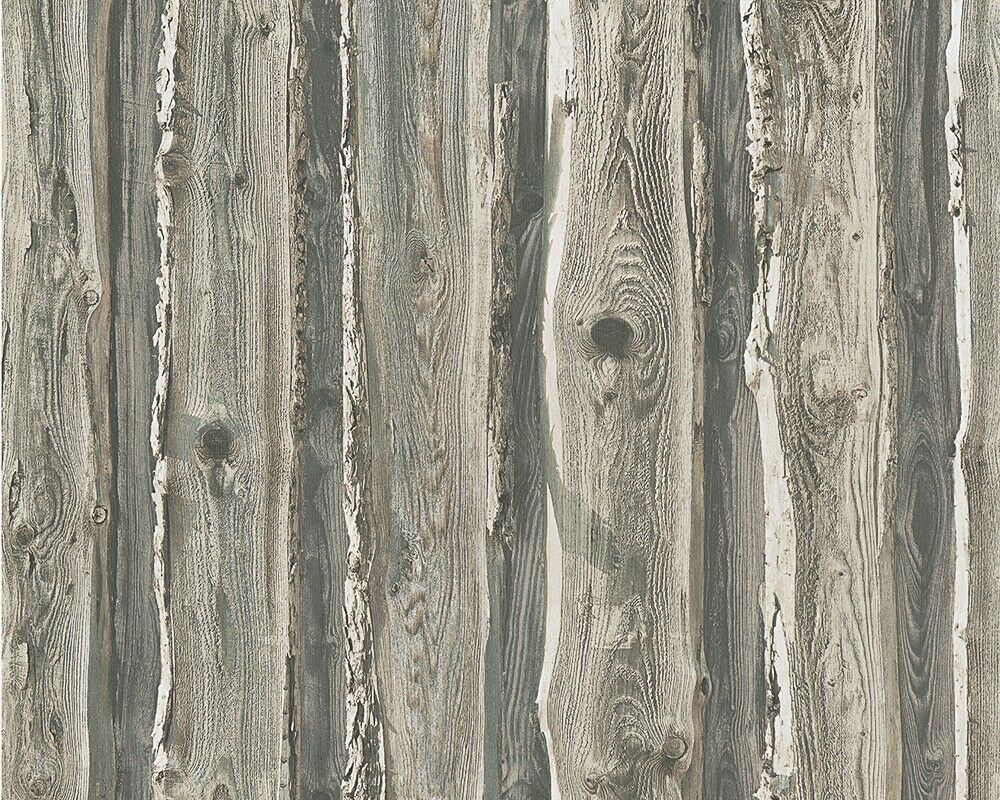 realistic old grey weathered wood wall feature wallpaper a