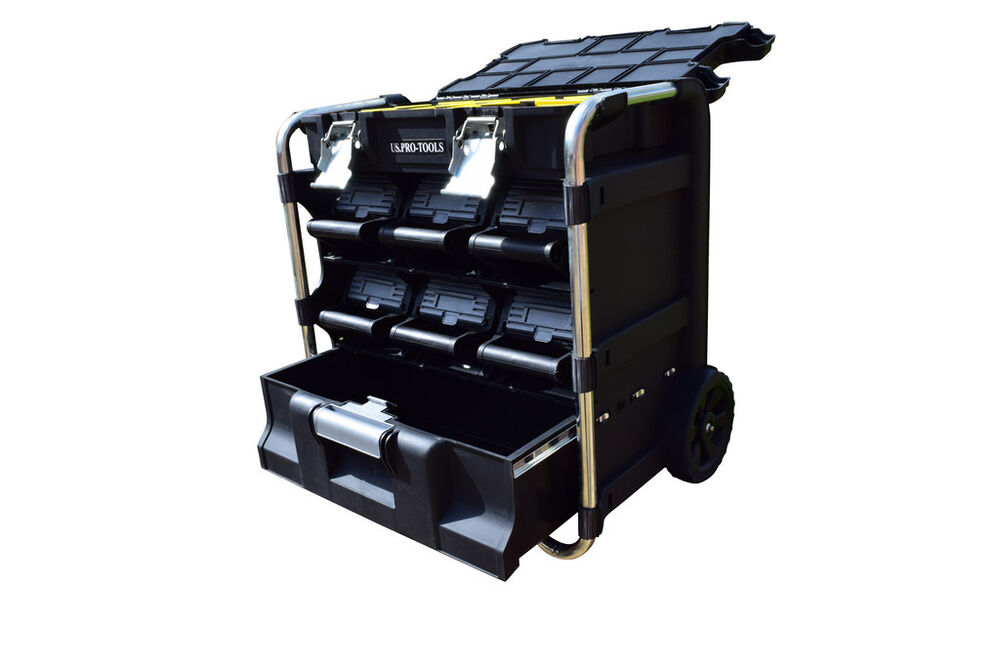 246 us pro mobile roller chest trolley cart storage tool box toolbox wheels ebay. Black Bedroom Furniture Sets. Home Design Ideas