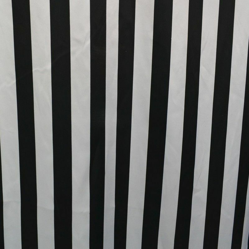 10 Yards Black White Stripe Satin Fabric 60 Wide Made