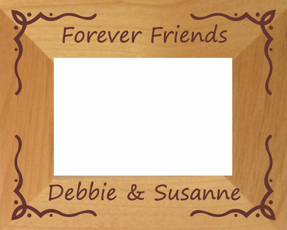 PERSONALISED FOREVER FRIENDS PHOTO FRAME BEST FRIENDSHIP BIRTHDAY ...