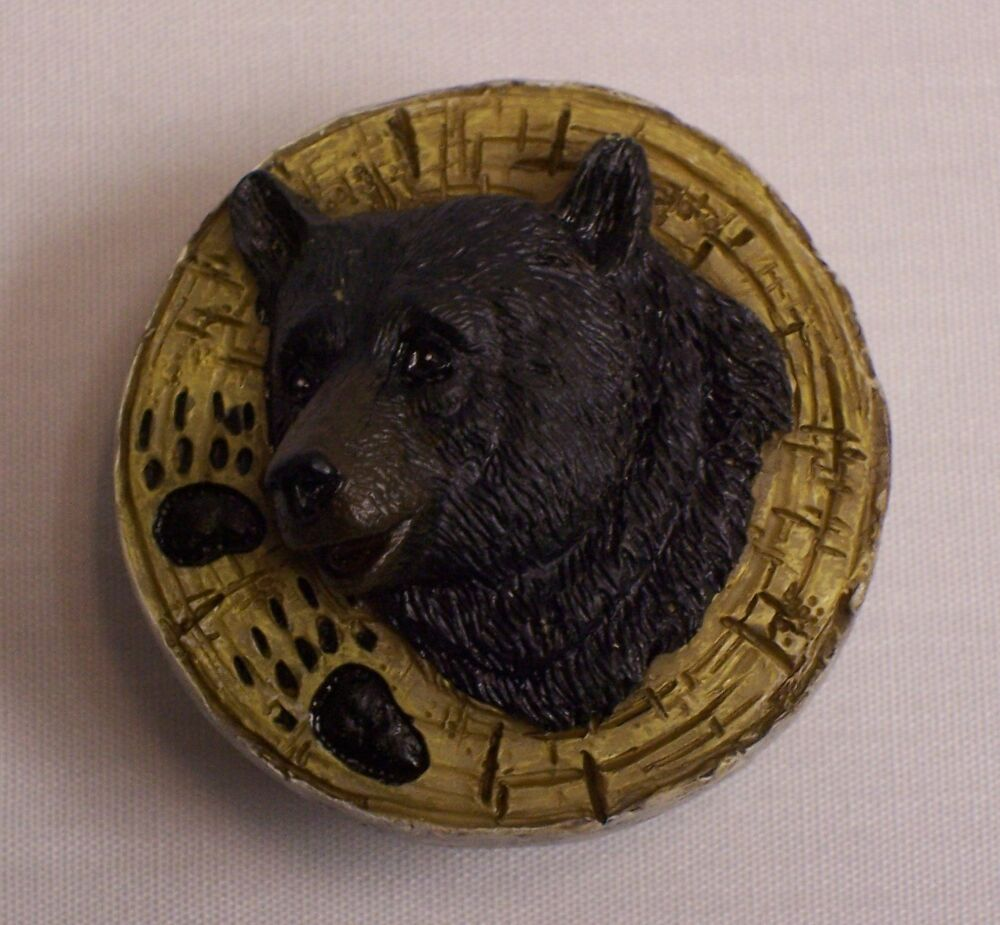Black Bear Drawer Door Knob Home Cabin Lodge Decor Nar