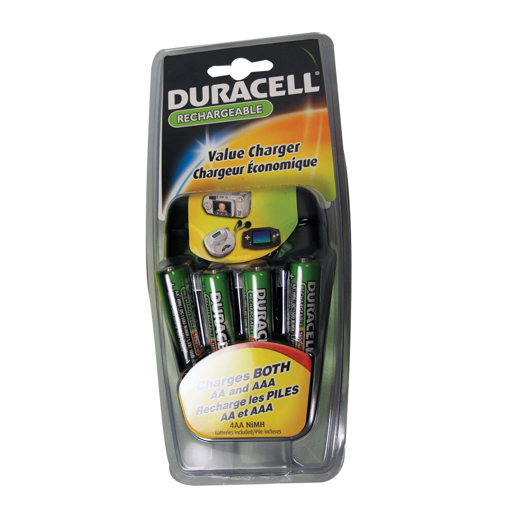 duracell value recharger black aaa aa cef14nc ebay. Black Bedroom Furniture Sets. Home Design Ideas