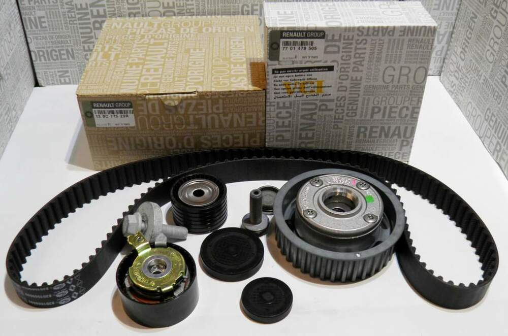 timing belt kit dephaser pulley renault megane ii scenic. Black Bedroom Furniture Sets. Home Design Ideas