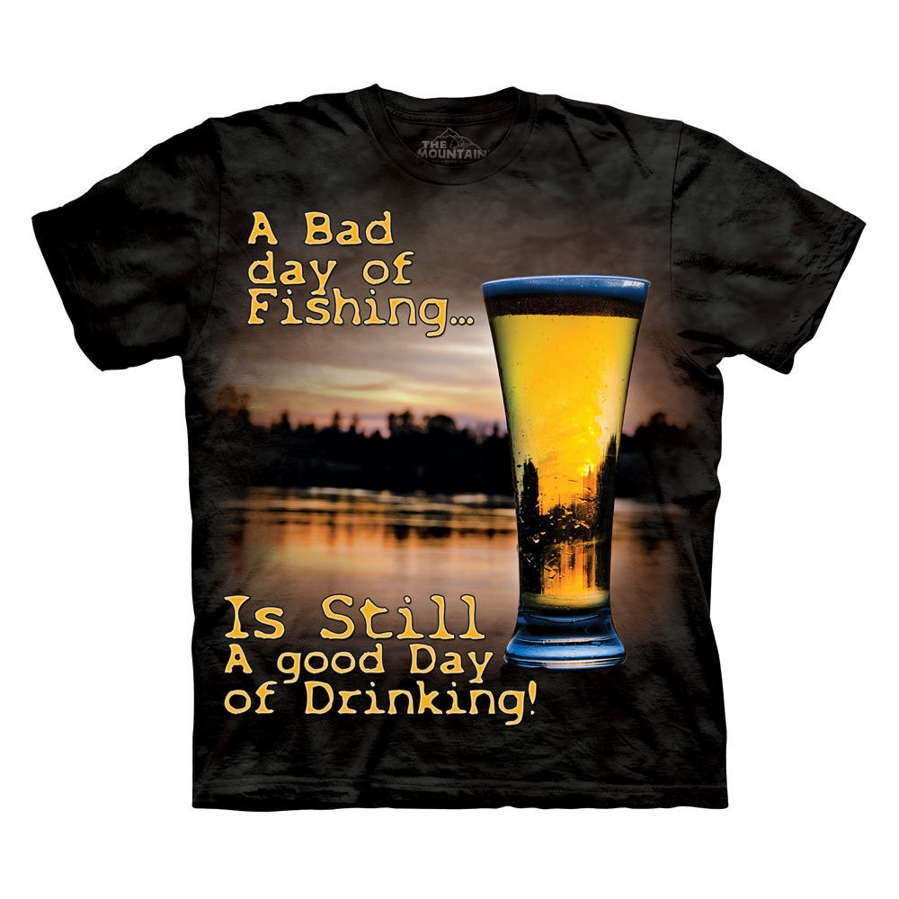 new bad day of fishing is still a good day t shirt new