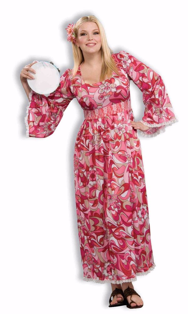 Plus Size Full Figured Adult Women's Flower Child ...