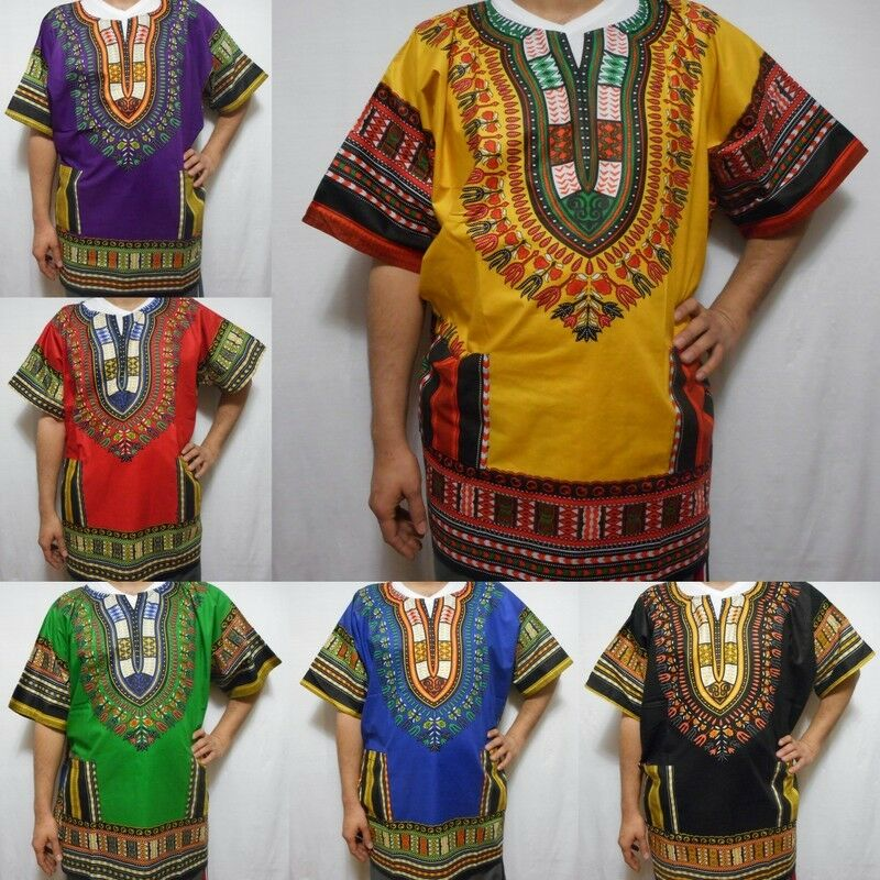 Dashiki 1X 2X 3X Mens Shirt Womens Caftan Boho African Top ...