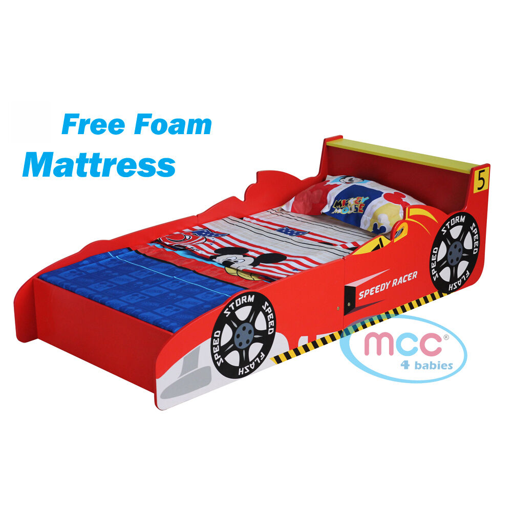 MCC Toddler Bed Cars Speed Kids Junior Bed With Luxury