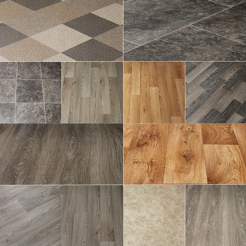 Wood design tile floor