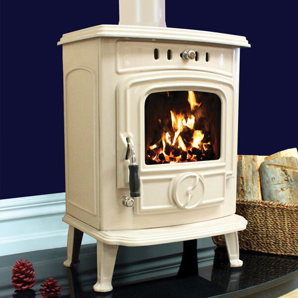 5kw Henley Aran Cream Multifuel Wood Burning Cast Iron