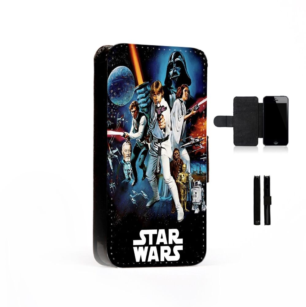 Case Design disney cell phone cases : Star Wars Printed Faux Leather Flip Phone Case Cover Wallet : eBay
