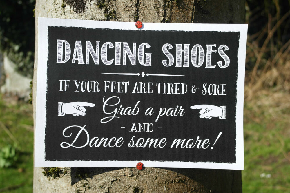 Dancing Shoes Wedding Sign Flip Flops If Feet Are Tired -6570