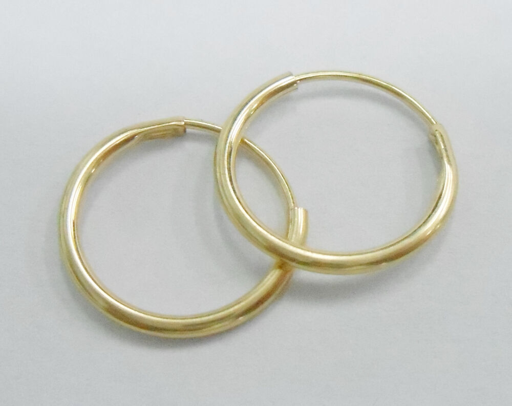 SALE Genuine 10k Yellow Gold Highly Polished Small Hoop