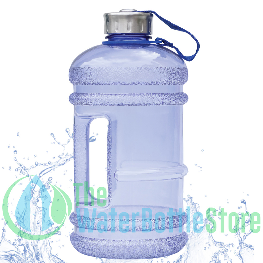 2 2 liter half gallon 64oz bpa free large water bottle w handle new wave enviro ebay. Black Bedroom Furniture Sets. Home Design Ideas