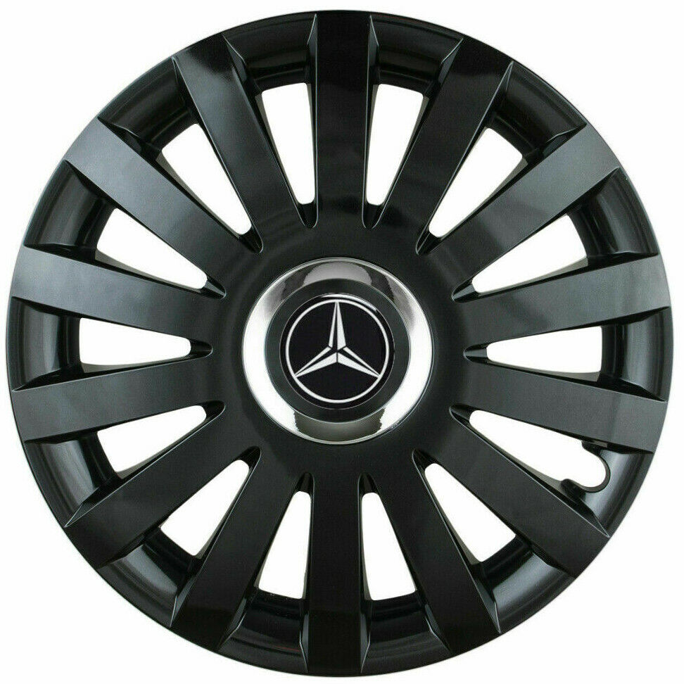 4x16 wheel trims for mercedes vito taxi black matte for Mercedes benz sprinter wheel covers
