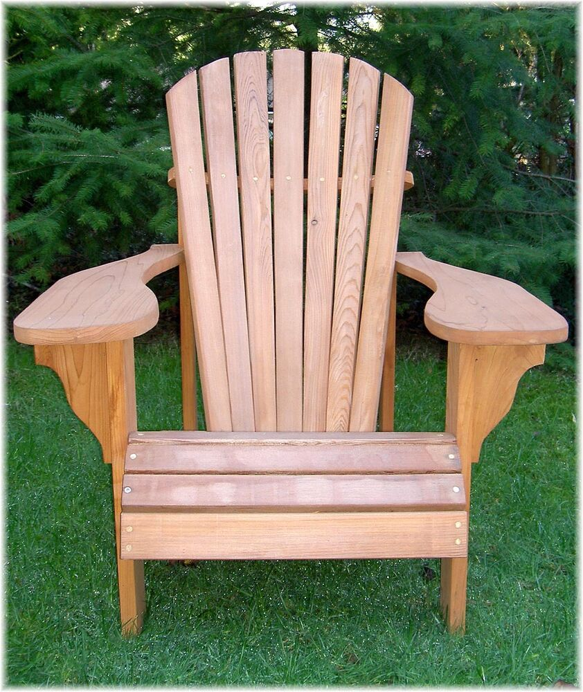 This is a photo of Massif Printable Adirondack Chair Plans
