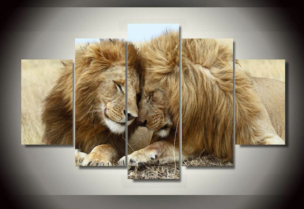 home interior lion picture framed canvas prints leo big wall painting 18316