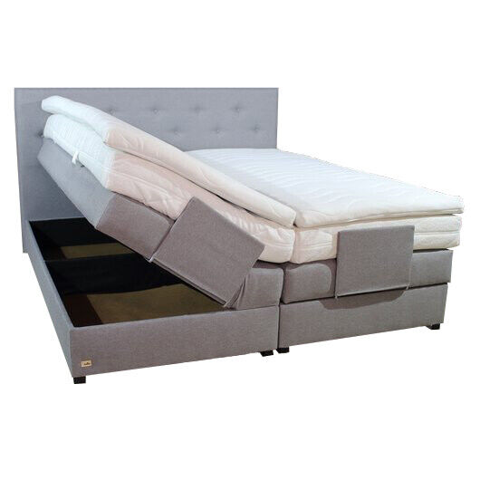 klima boxspringbett mit bettkasten stauraum 200x200 farbwahl matratze topper neu ebay. Black Bedroom Furniture Sets. Home Design Ideas