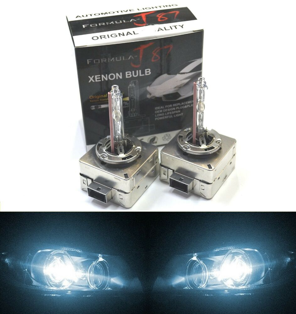 hid xenon head light d1s two bulb 6000k white blue color. Black Bedroom Furniture Sets. Home Design Ideas