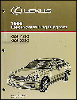 1998 lexus gs 300 400 wiring diagram manual gs300 gs400 electrical schematic 98 ebay. Black Bedroom Furniture Sets. Home Design Ideas