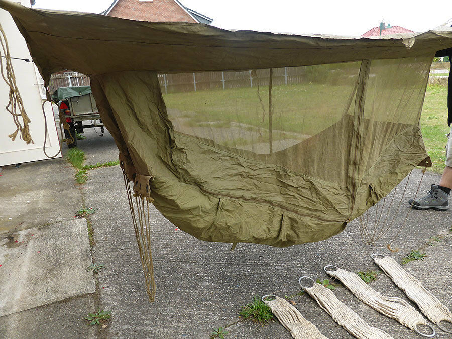 us ww2 original hammock jungle selig mfg 1942 tropen h ngematte moskitonetz zelt ebay. Black Bedroom Furniture Sets. Home Design Ideas