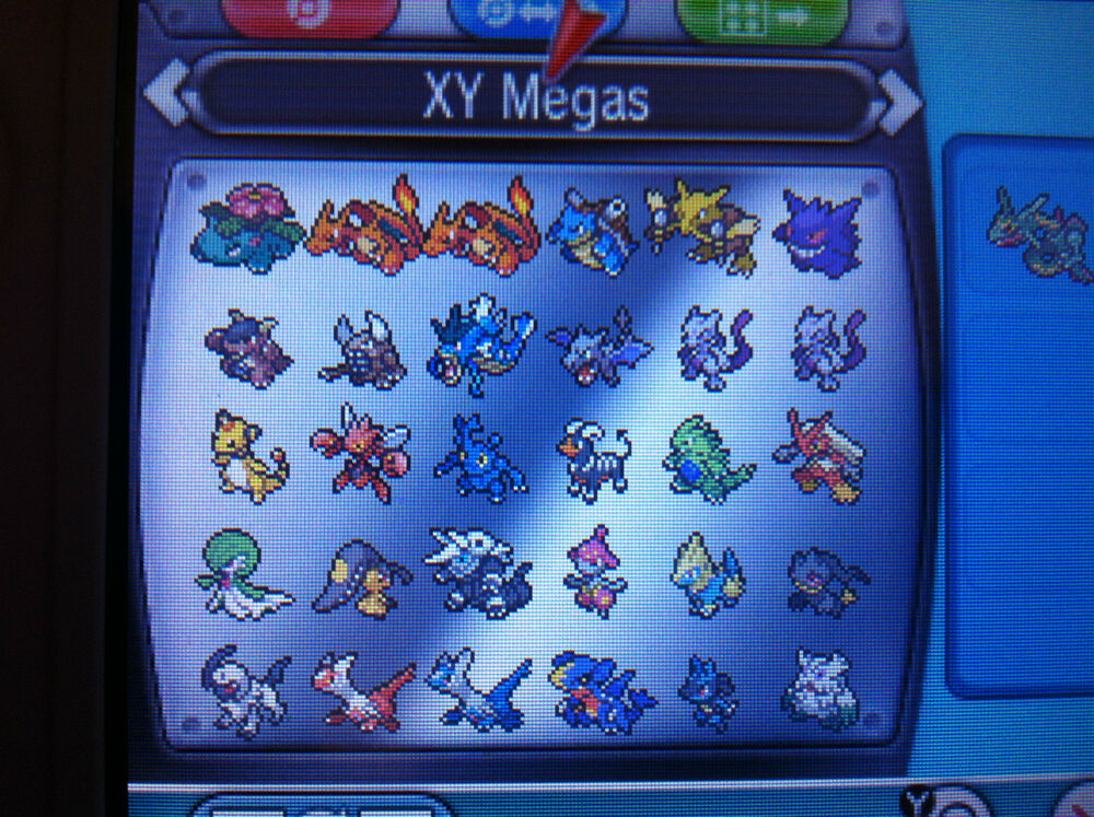 All 48 Mega Evolution Shiny Pokemon Omega Ruby Alpha ...