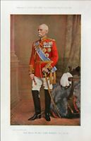 1896 BOER WAR ERA ~ PRINT ~ FIELD MARSHALL LORD ROBERTS V.C. COLOUR PICTURE