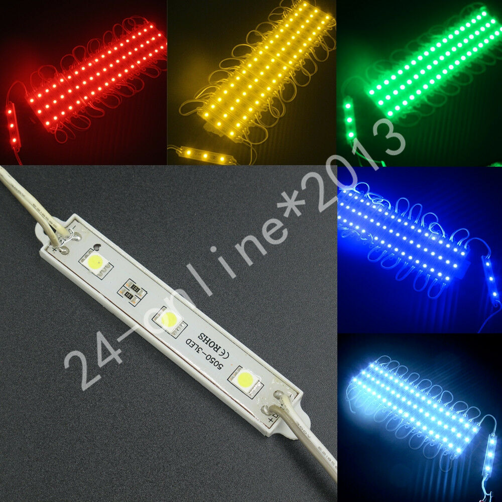 Waterproof led module 3 5050 smd led 12v dc advertising for Dc motor light led