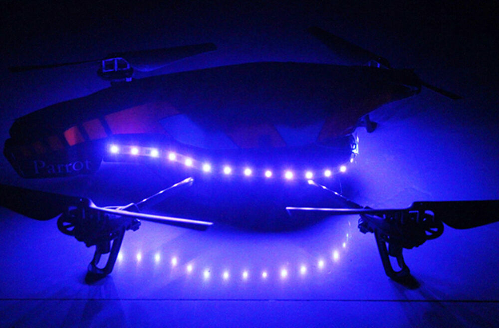 how to add led lights to drone