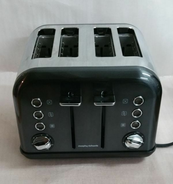 morphy richards 4 scheiben toaster accents schwarz 242002 1800 watt ebay. Black Bedroom Furniture Sets. Home Design Ideas
