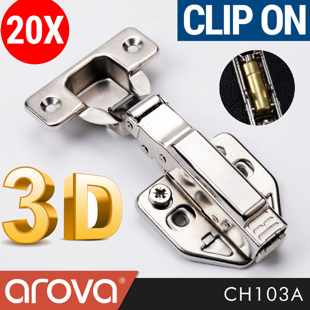 clip on soft close hinges for kitchen cabinets 20 pc concealed soft cabinet hinge overlay clip 13652