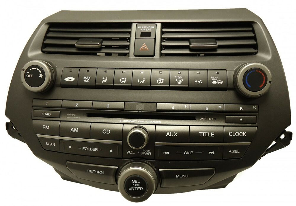Honda Accord Am Fm Radio Stereo 6 Disc Changer Mp3 Cd