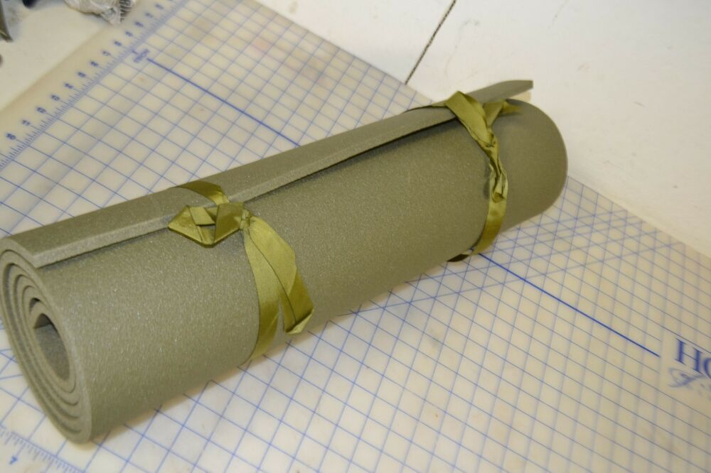 Yoga Stretching Mat Military Od Green Foam Pt Exercise Usa