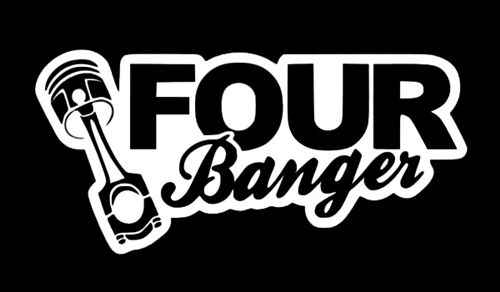 Four Banger Sticker Decal Vinyl Illmotion Jdm Import Tuner