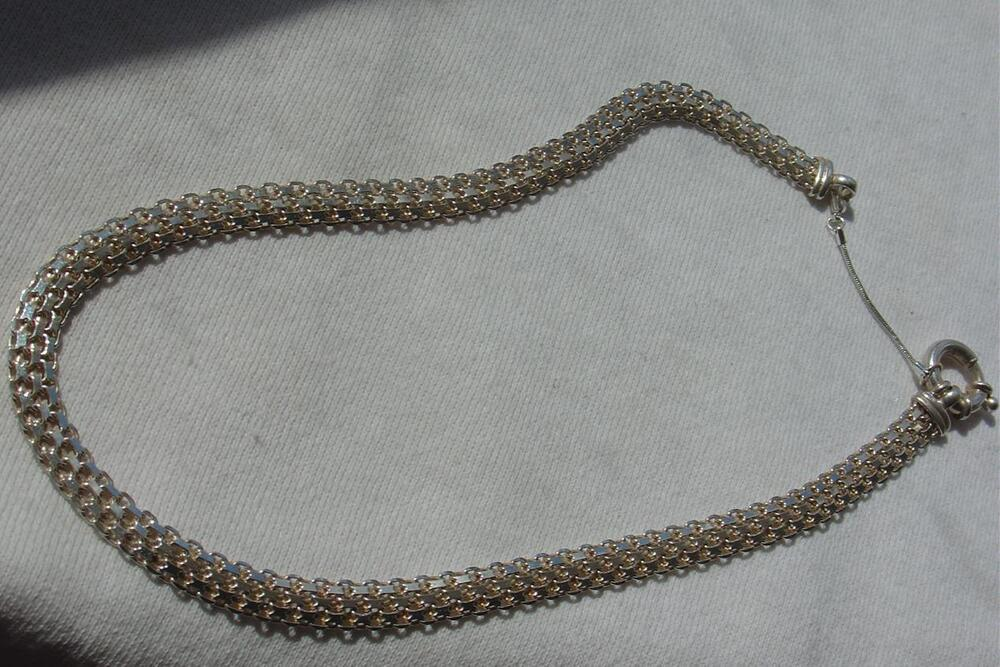 vtg sterling made in italy 925 milor mesh necklace w