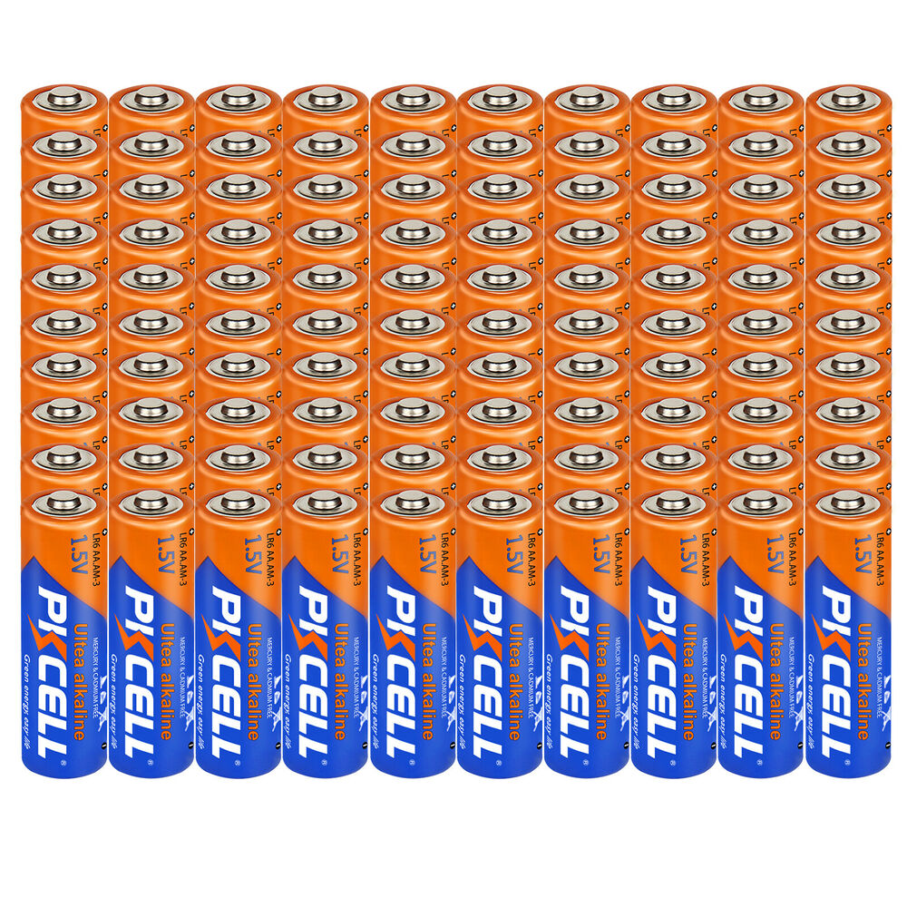 100 X Aa Alkaline Batteries 1 5v Lr6 2a Single Use Battery