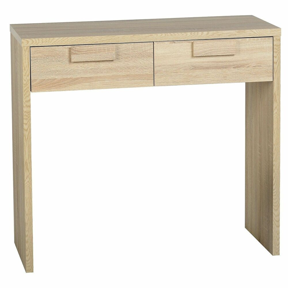 Cambourne 2 Drawer Limed Oak Console Table Seconique Living Room Furniture