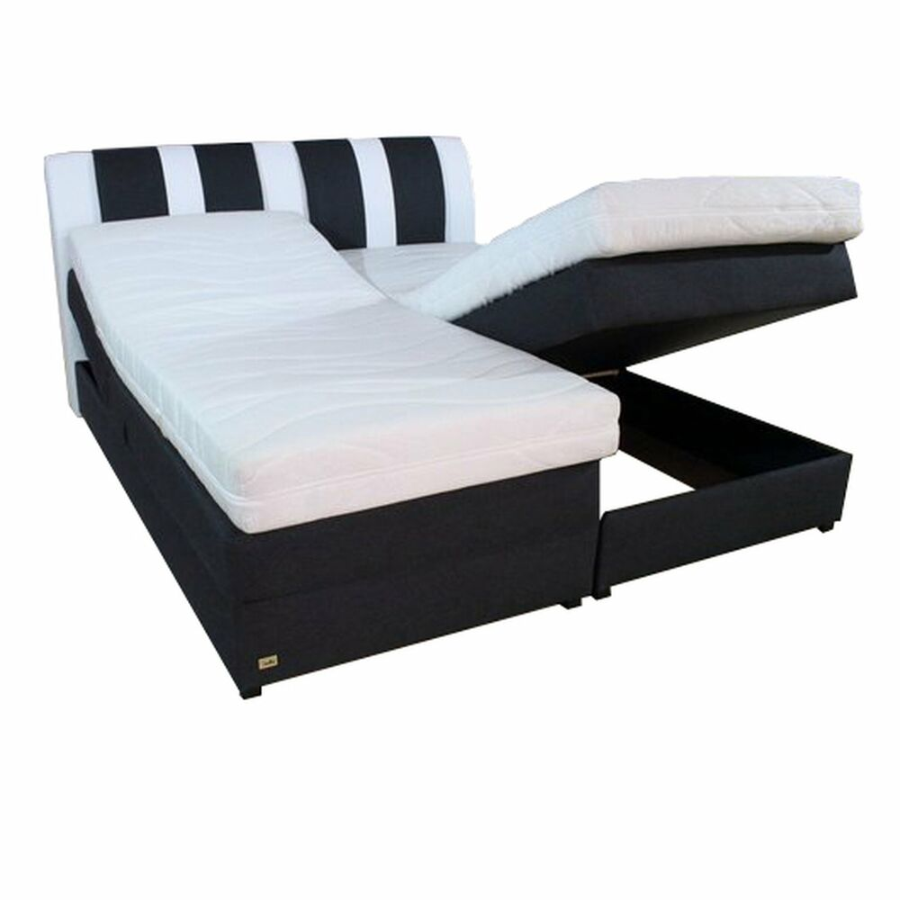 boxspringbett mit bettkasten kopfverstellung stauraum 180x200 farbwahl klima ebay. Black Bedroom Furniture Sets. Home Design Ideas