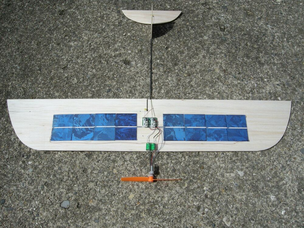 """RC """"Sol Simple"""" SOLAR cell airplane Park Flyer Slow Flyer ..."""