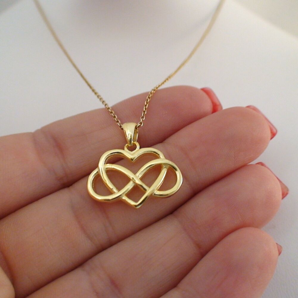 infinity necklace 925 sterling silver gold