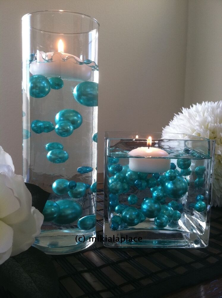 pearl wedding decor turquoise green jumbo pearls mixes 5 6 7 8 10 14 18 24 30 6423