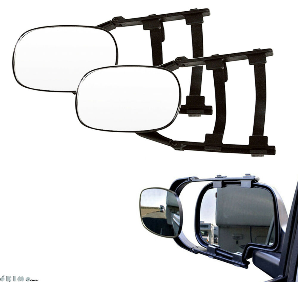 Pair Clip On Trailer Towing Side Mirror Extender Extension