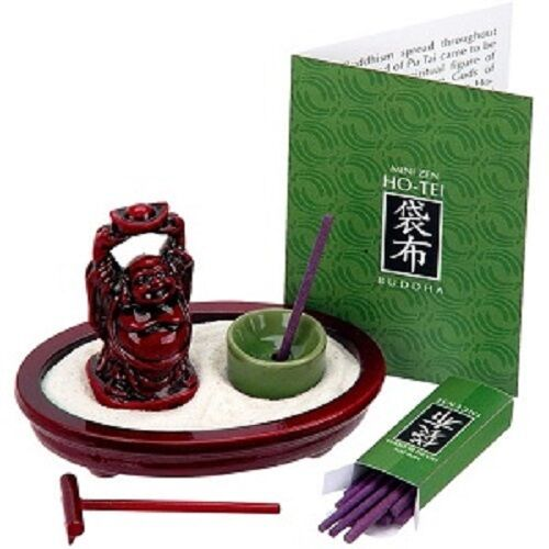 Tabletop zen garden with laughing buddha mini by toysmith for Table zen garden