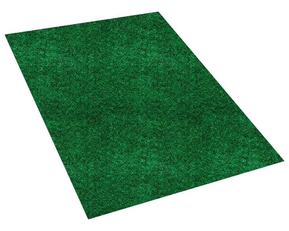 Green Indoor Outdoor Area Rug Carpet Non-Skid Marine