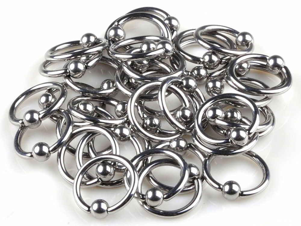 10pcs wholesale stainless steel body jewelry lip tongue for Types of body jewelry rings