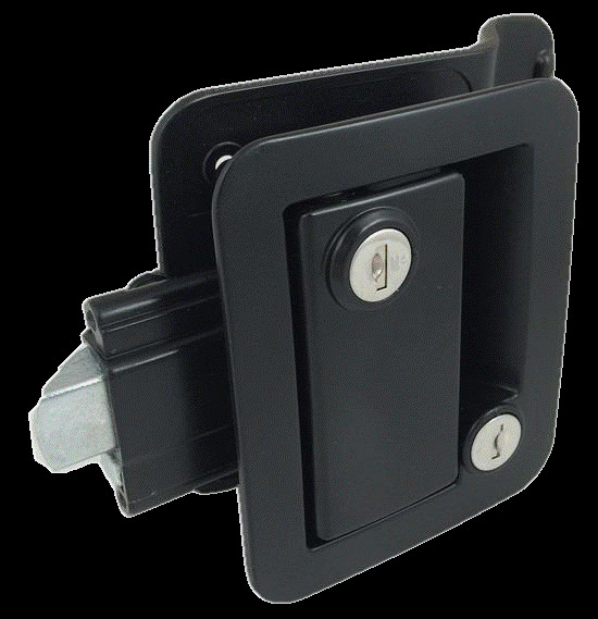 Black Rv Entry Door Lock W Deadbolt Camper Travel