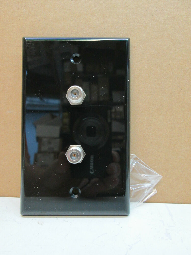 Premier 1 Gang Double Tv Coax Coaxial Cable Wall Plate