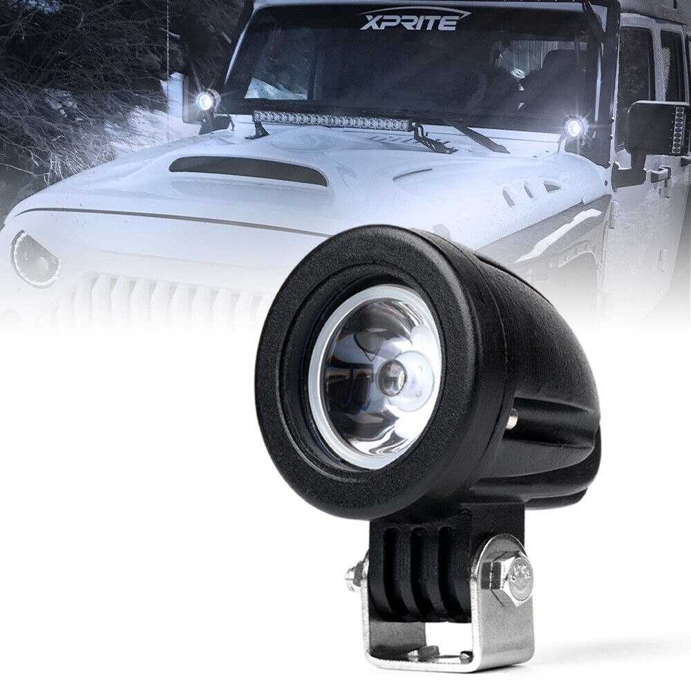 10w 2 inch spot led light offroad round work lamp for truck 4wd 4x4 suv jeep ebay. Black Bedroom Furniture Sets. Home Design Ideas