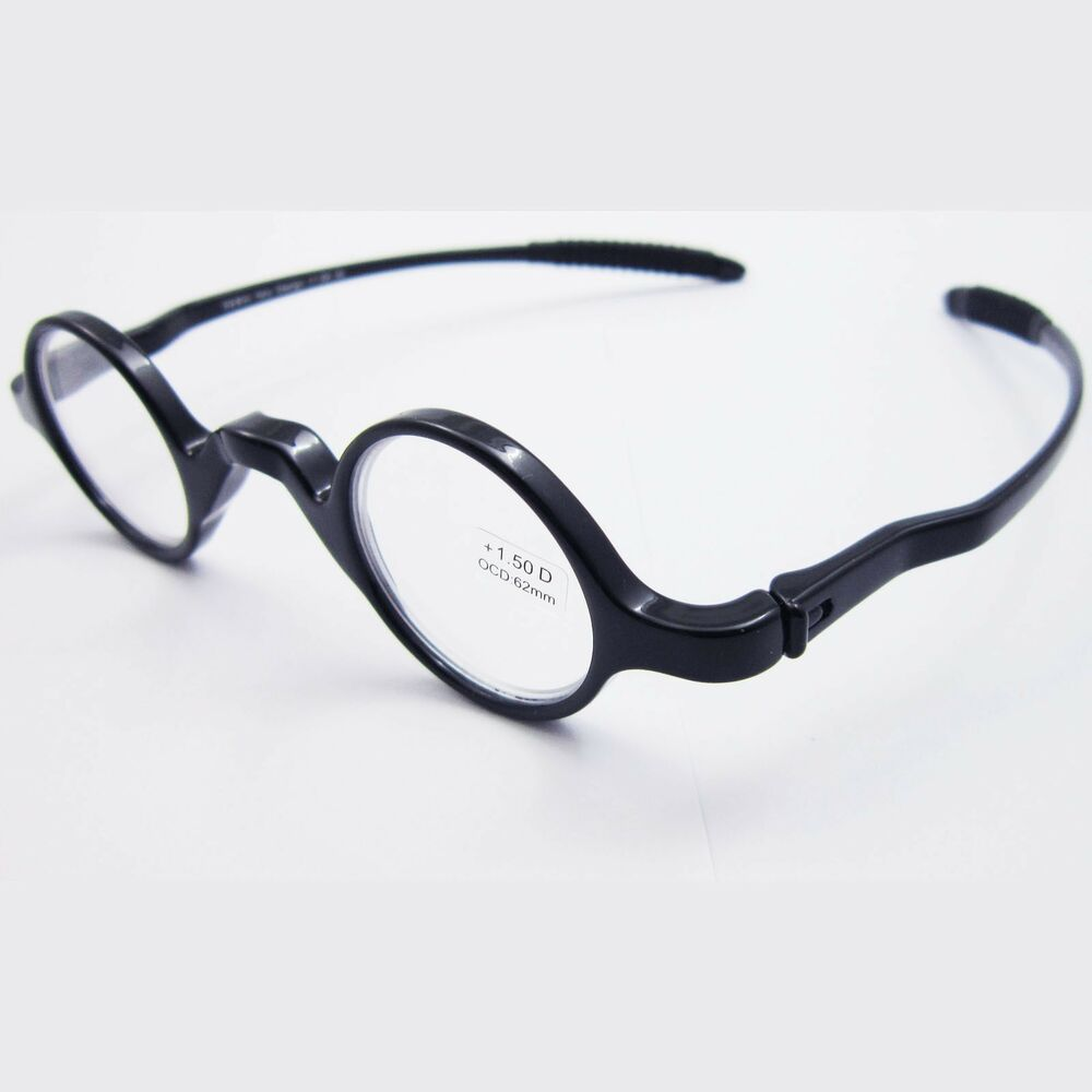 Reading Eyeglass Frame Numbers : 32mm Small Round Black TR 90 Reading Glasses Eyeglass ...