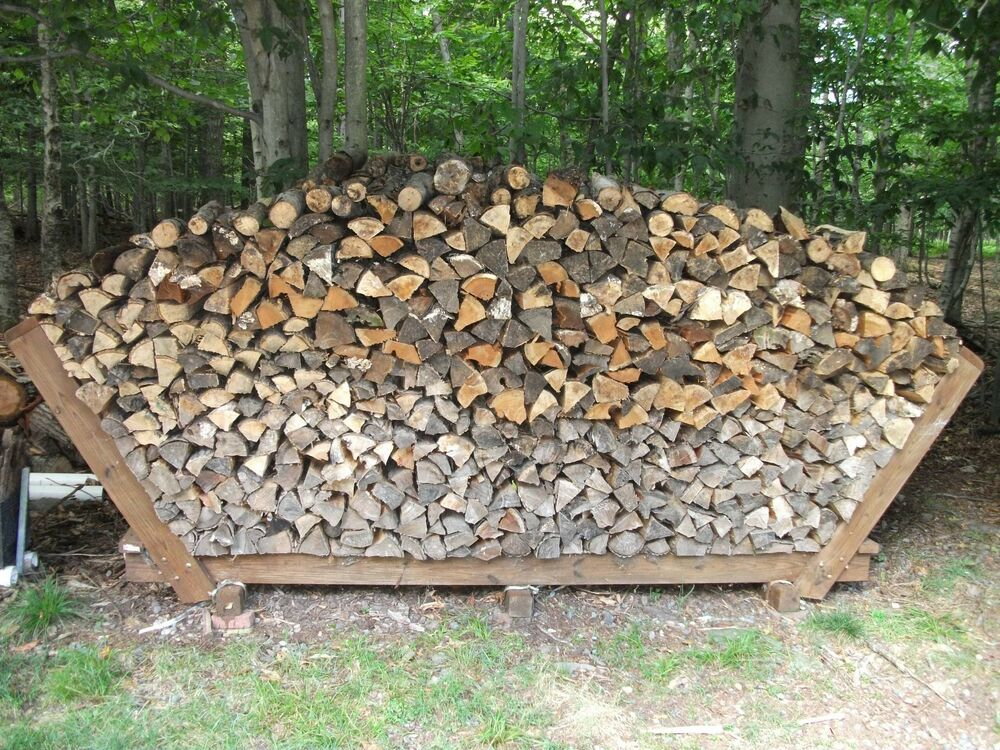 Country Firewood Storage Rack Building Plans | eBay
